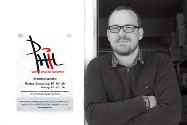 Grafik Traismauer, Phil´s Druckstudio, Hochzeit Visitenkarten